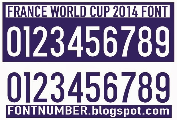 France World Cup 2014 Font