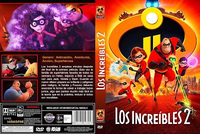 CARATULA LOS INCREIBLES 2 - THE INCREDIBLES 2 -2018