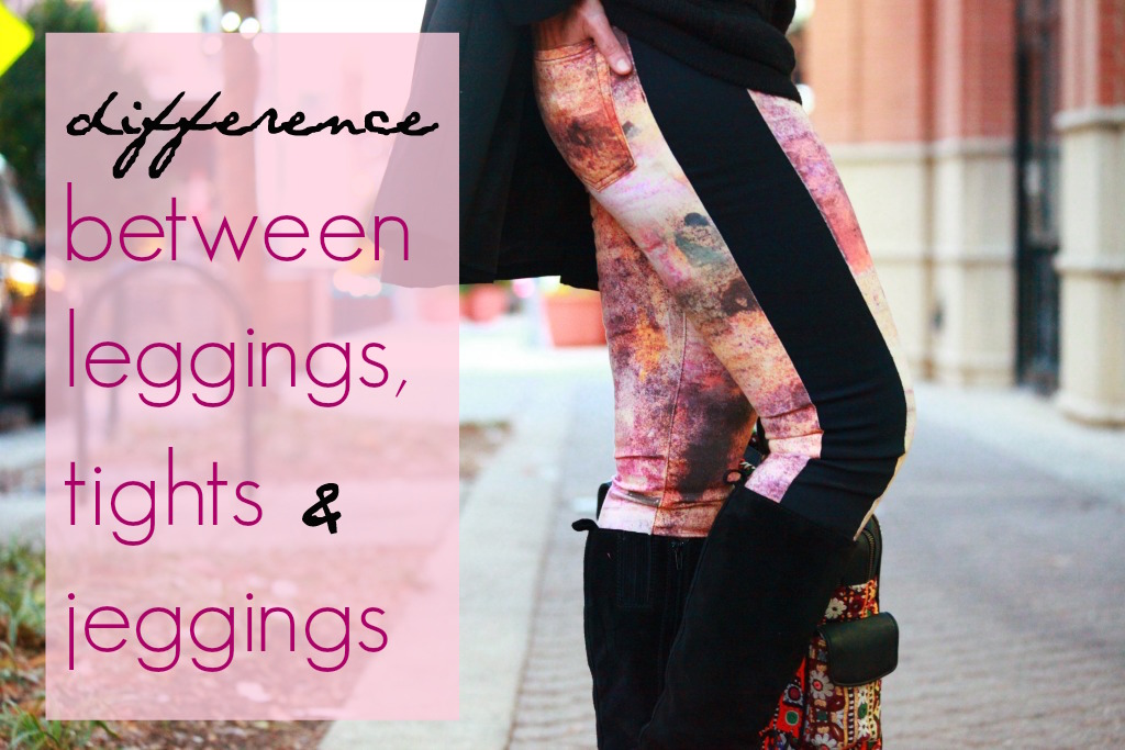 Difference between leggings, jeggings, and tights, Tanvii.com