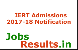 IERT Admissions 2017-18 Notification