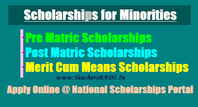 GoI Pre matric, Post matric, Merit cum Means Scholarships for Minority students 2017