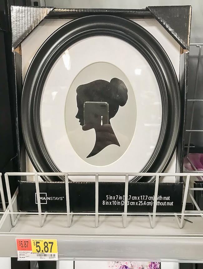 Walmart silhouette frame