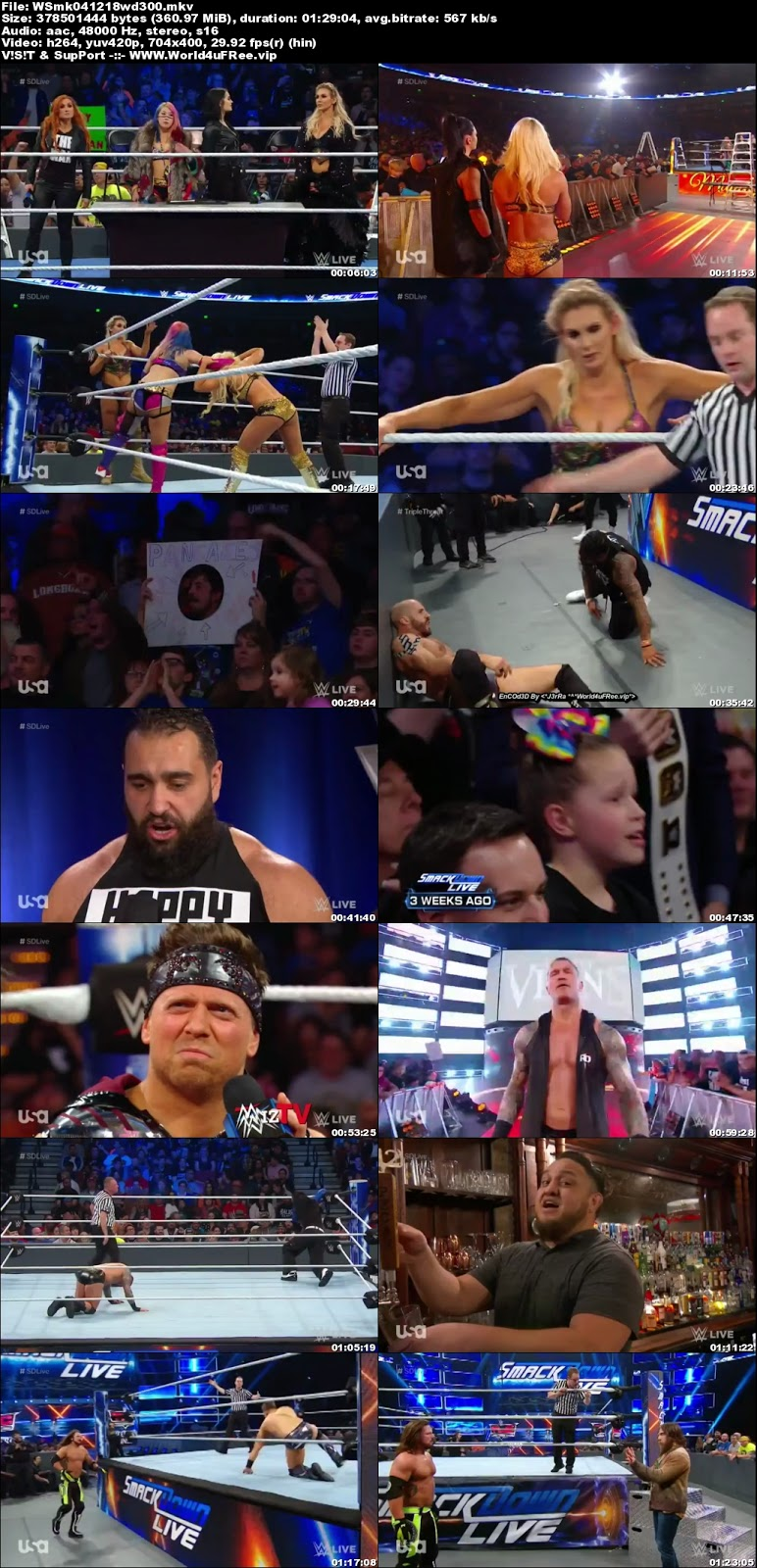 WWE Smackdown Live 04 DECEMBER 2018 HDTV 480p 350MB x264  tv show wwe WWE Smackdown Live 04 DECEMBER 2018 HDTV 480p 650MB x264 compressed small size free download or watch online at world4ufree.fun