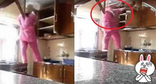 Majikan Ini Diam-diam Memasang Kamera Dan Kaget Setengah Mati Melihat Ulah Sang Pembantu Ketika Membersihkan Dapur