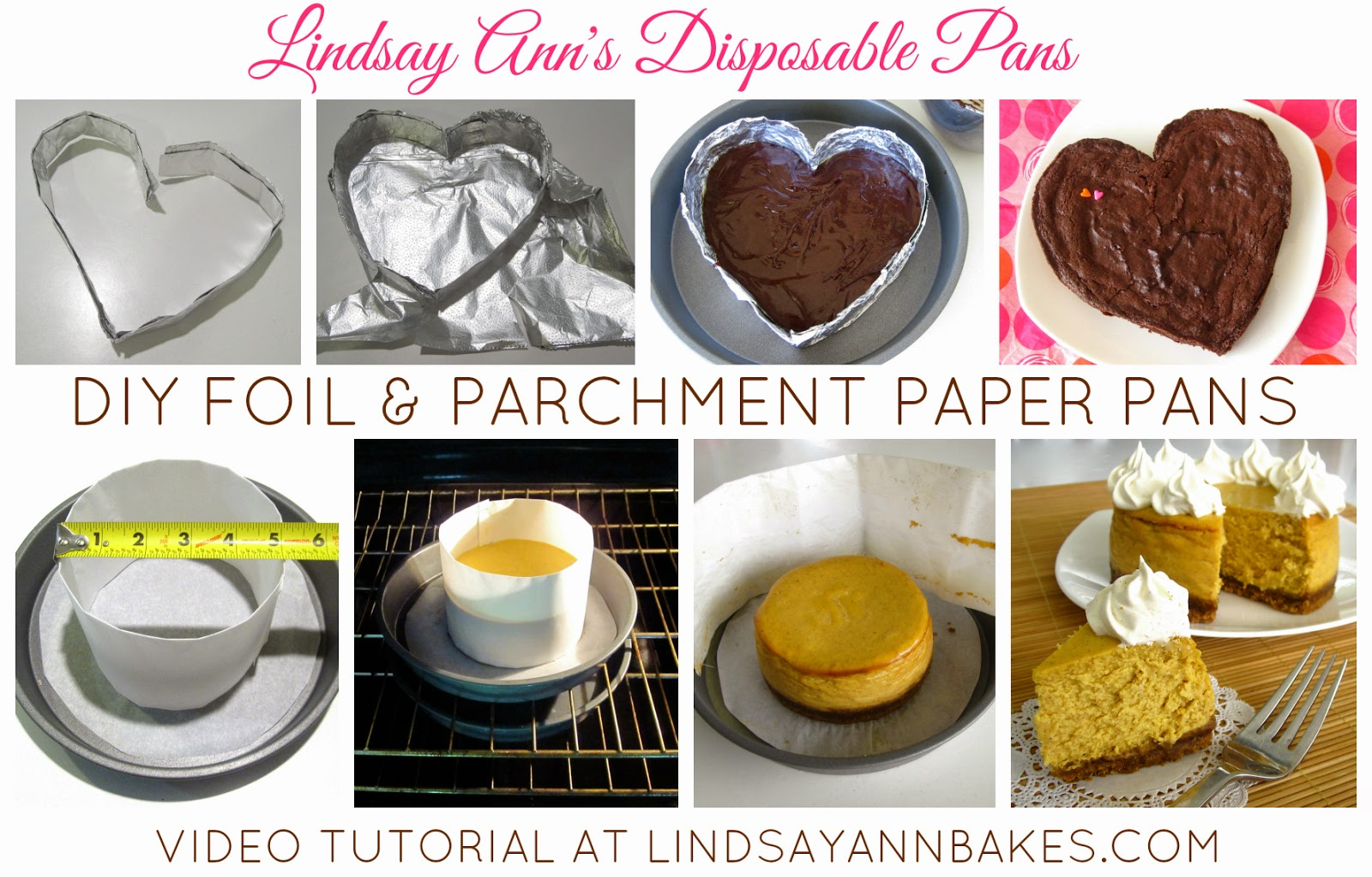 Video Diy Disposable Baking Pans Heart Shaped Foil Pans
