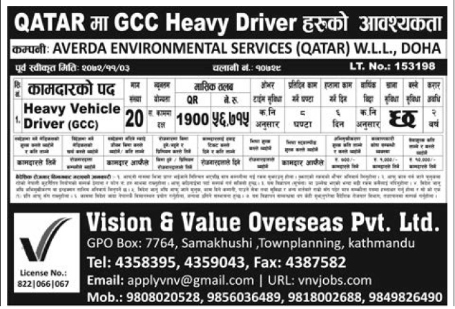 Jobs in Qatar for Nepali, Salary Rs 56,715