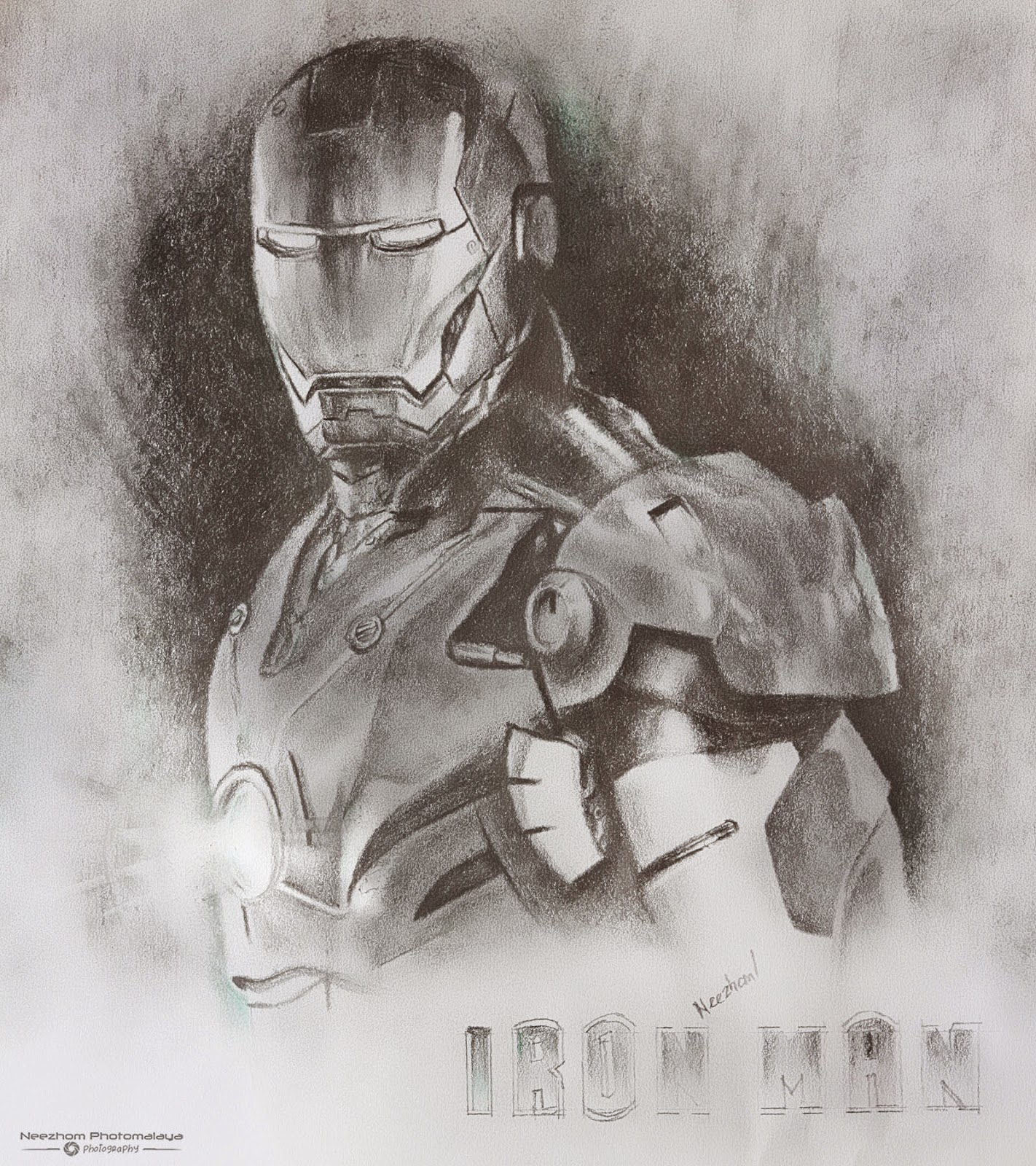 Iron Man pencil drawing