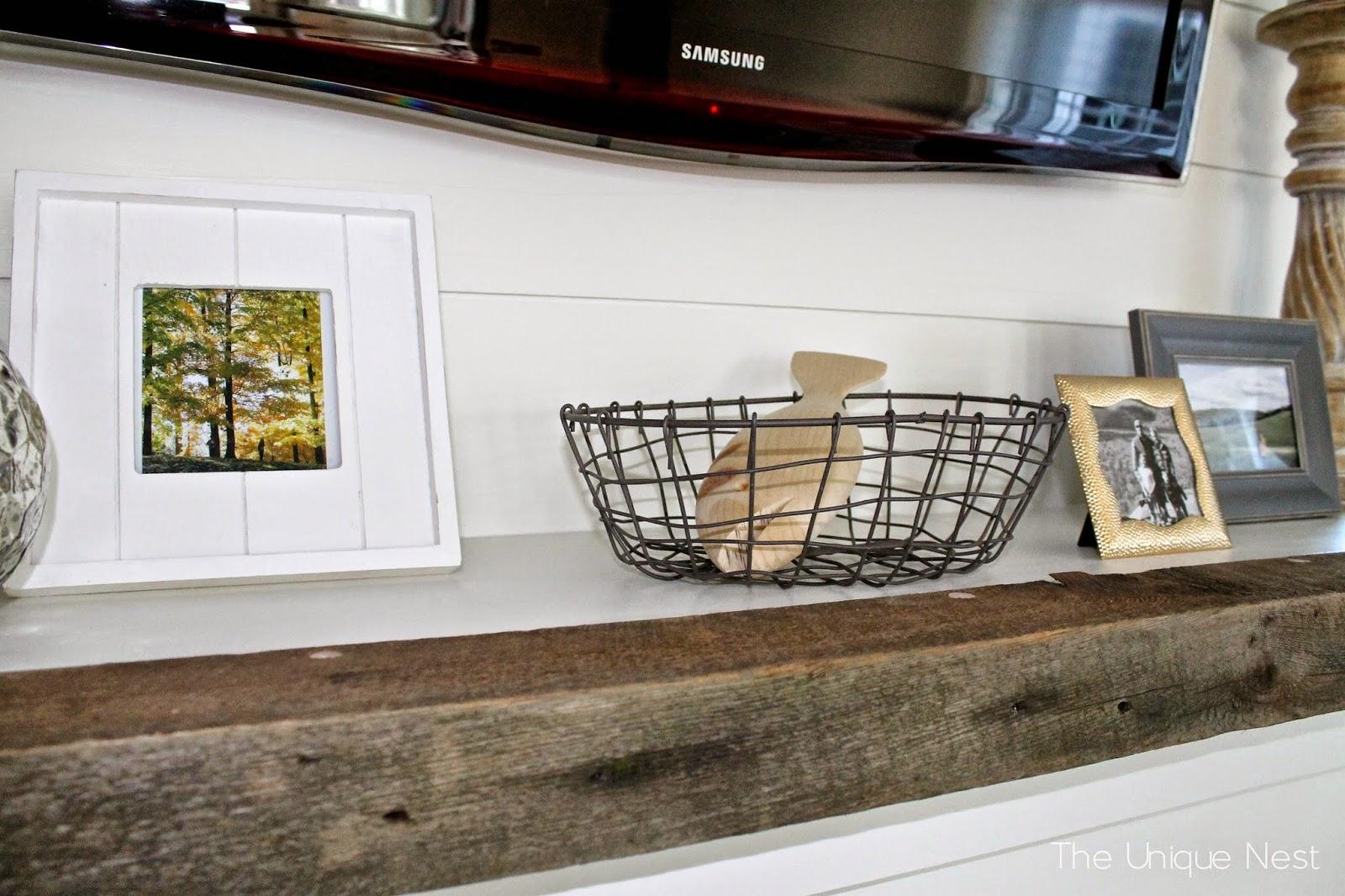 shiplap fireplace with built ins the unique nest. Black Bedroom Furniture Sets. Home Design Ideas