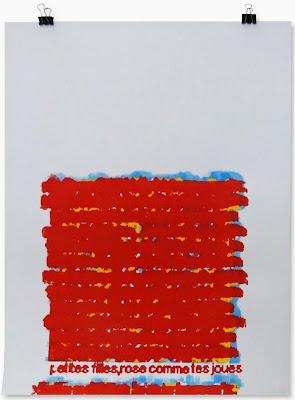 Mary-France, sérigraphie numéroté 1/3, format 42x59cm, 2014, collection médiathèque Jean-Paulhan, Nîmes