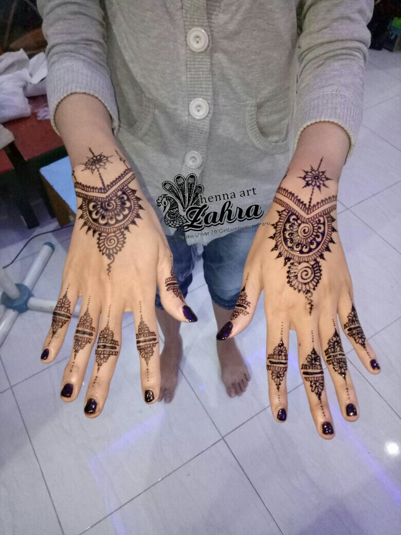 Zahra Henna Art Pare Kediri Desain Henna Yang Unik Paling Diminati