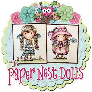 Paper Nest Dolls Digital Stamps