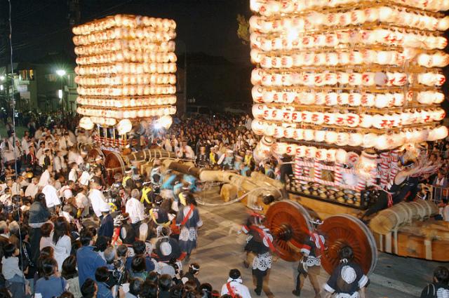 Fushiki Hikiyama Matsuri (Battle of Traditional Float), Fushiki Shrine, Takaoka, Toyama
