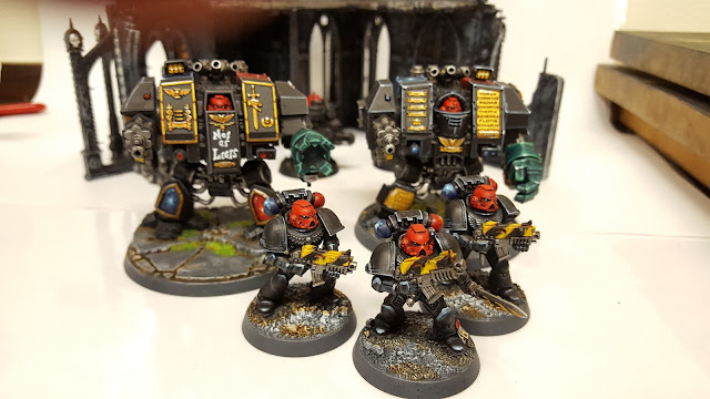 space marine field police dreadnoughts