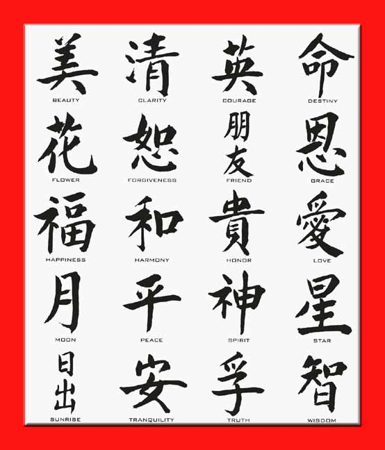 Thevulpecula Asian Chinese Tattoos Symbols