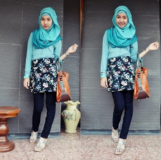 fashion hijab remaja casual