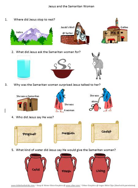 Bible Fun For Kids Life Of Jesus Worksheets