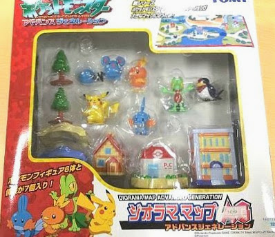 Torchic figur in Tomy Pokemon Diorama Map AG Set