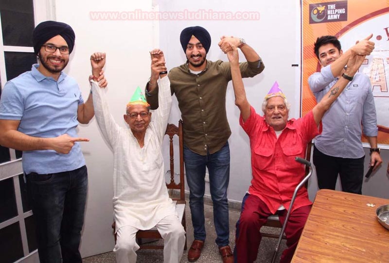 NGO Helping Army celebrating Father's day at old age home
