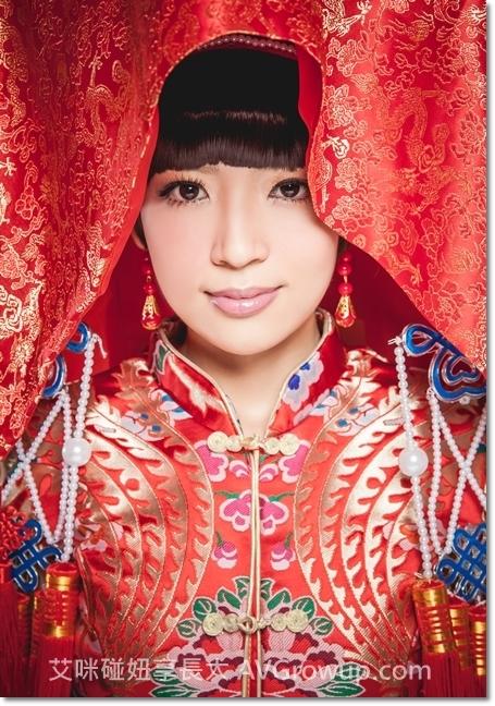 鳳冠霞披-狀元帽-婚紗-古裝婚紗-戲服-紅色旗袍