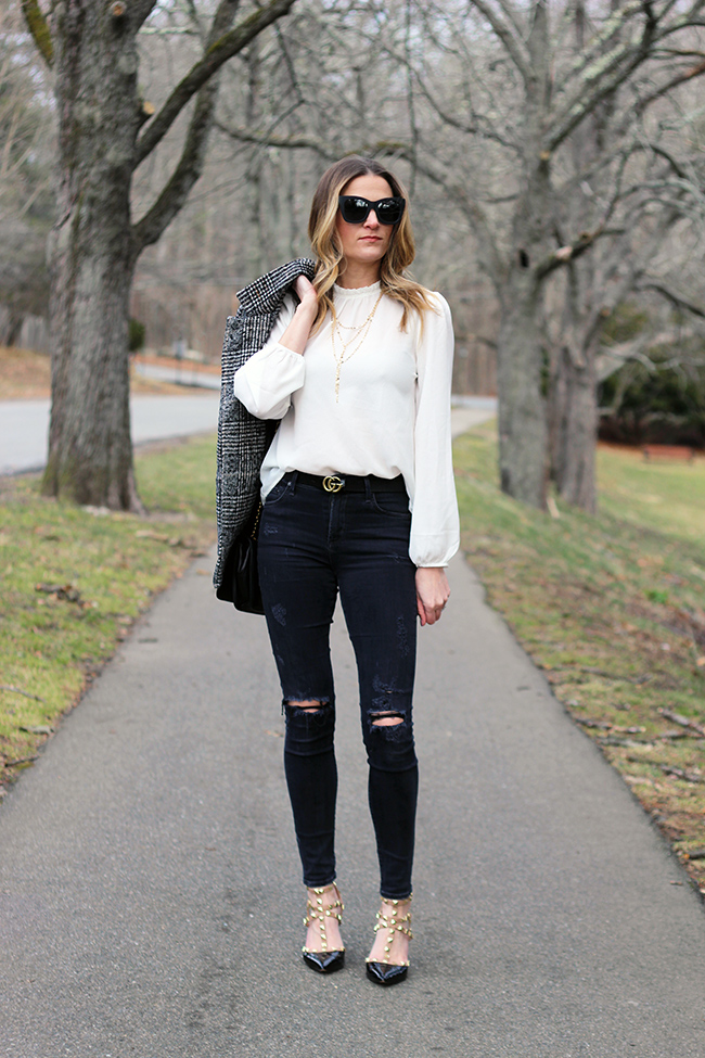 White Blouse #whiteblouse #springstyle