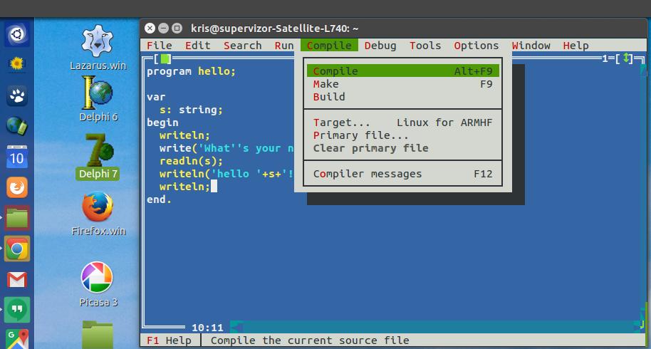 Free Pascal development for Ubuntu Phone
