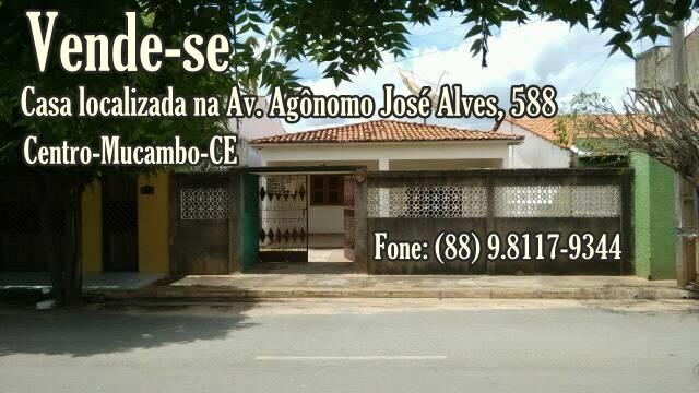 ATENÇÃO: CASA À VENDA NO CENTRO DE MUCAMBO-CE