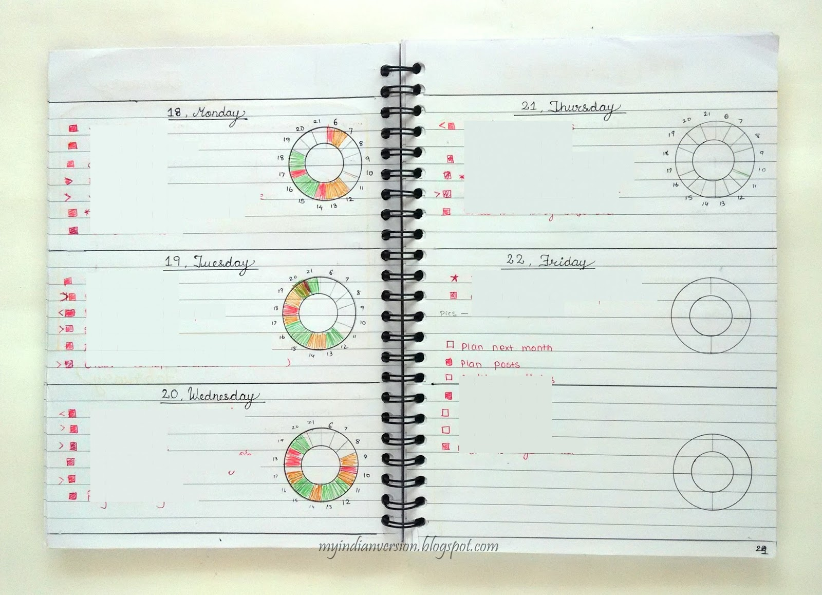 My Indian Version Bullet Journal Weekly Spread Ideas Part 1