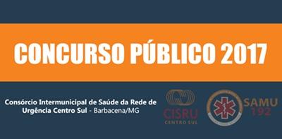 Apostila concurso CISRU MG 2017