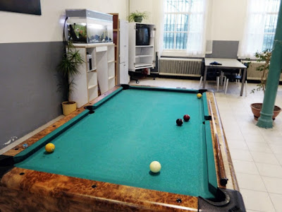Ruang bilyard tempat narapidana bersantai di Norgerhaven