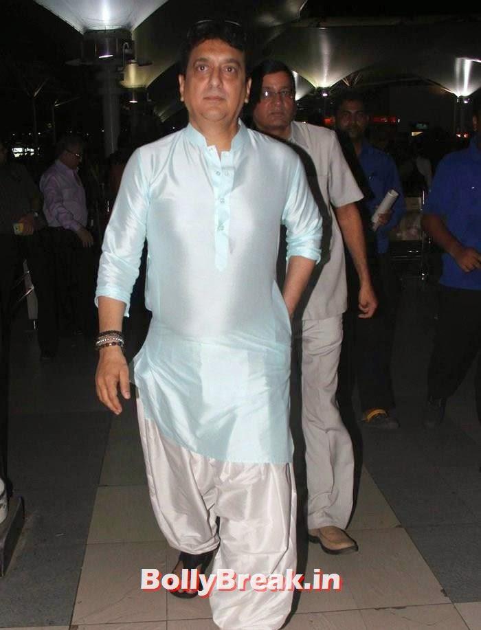 Sajid Nadiadwala, Bollywood Celebs at Airport to Attend Arpita Khan's Wedding