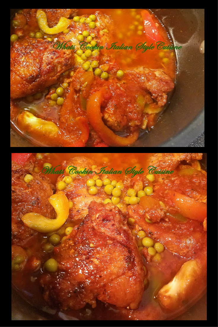 I just love to make recipes that remind me of my grandmother Victoria Grandma's Chicken Thighs Sauce and Peas