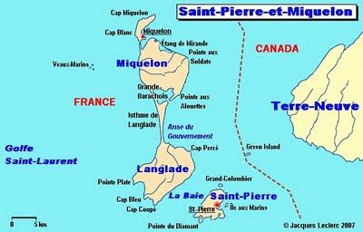 Mapas de Saint-Pierre e Miquelon | França