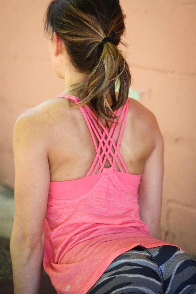 lululemon mini-coast-camo-wunder-under-pant sunset-salutation-tank