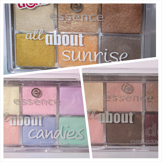 Essence All About ... eyeshadow palettes