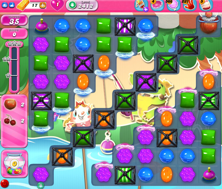 Candy Crush Saga level 2412