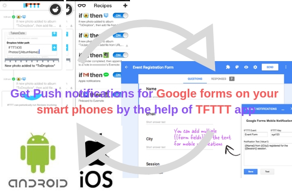 Get Push notifications for Google forms on your smart phones by the