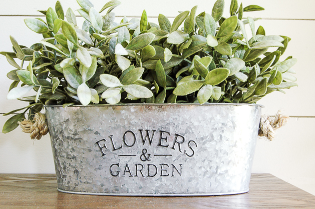 How to age a dollar tree galvanized planter
