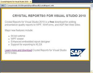 Sap crystal reports for visual studio 2012 32 bit free download.