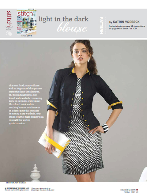 light in the dark blouse im Stitch Magazine @frauvau.blogspot.de
