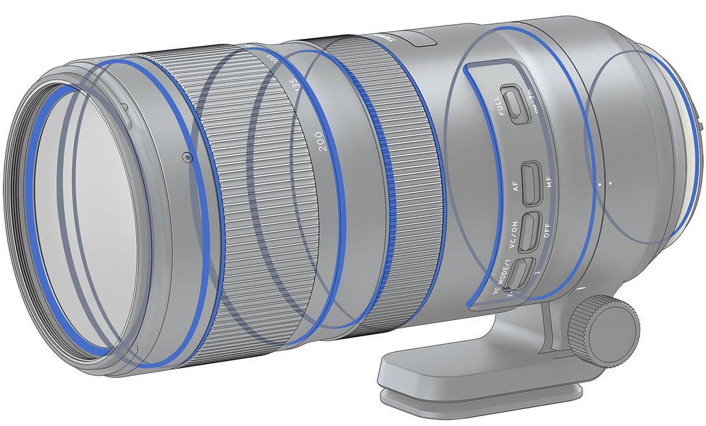 Tamron SP 70-200mm f/2.8 Di VC USD G2. Уплотнительные прокладки для защиты от попадания влаги и пыли