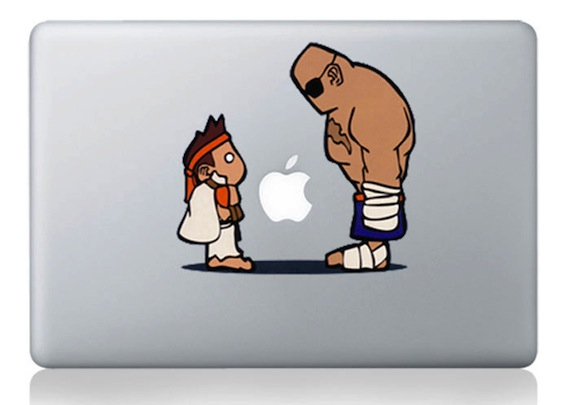 Adult & Children Cartoon MacBook Sticker