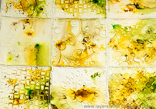 Layers of ink - Autumn Days Tutorial by Anna-Karin with Sizzix embossing folders and dies by Eileen Hull.