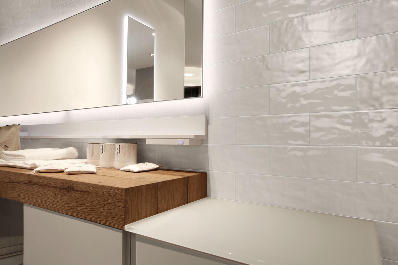 backsplash for white kitchen best floors isc surfaces: marazzi's middleton square offers striking ...