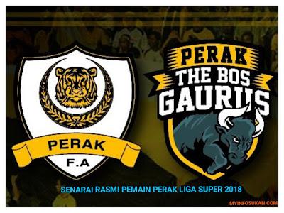 Senarai Rasmi Pemain Perak Liga Super 2018
