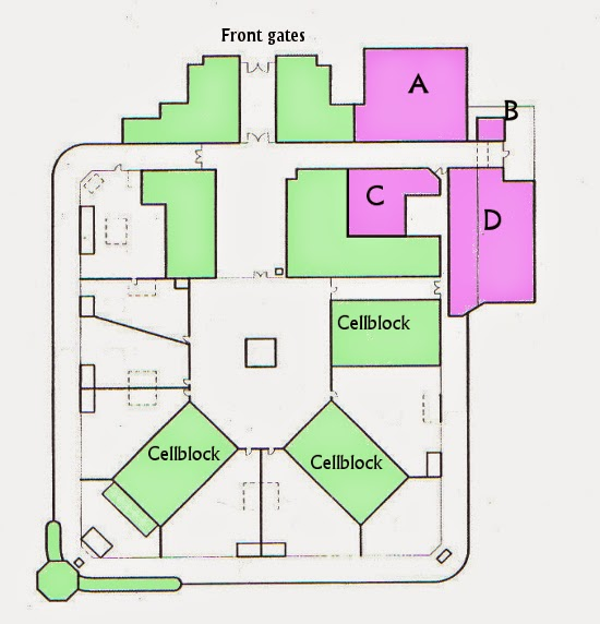 Plan of proposed changes for Boggo Road Gaol, Brisbane.
