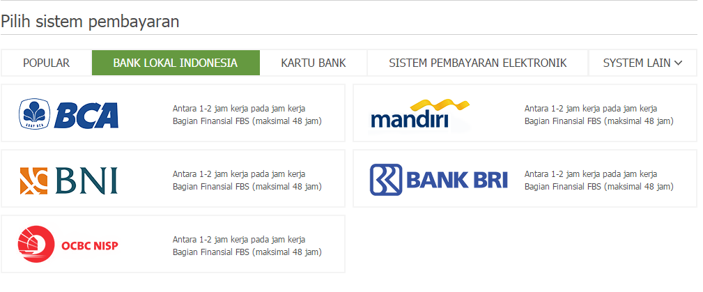 Forex deposit bank lokal indonesia