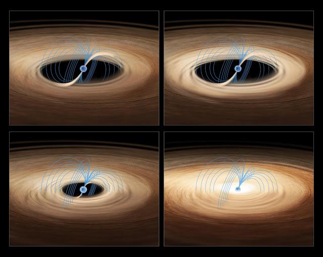 Minh họa về ngôi sao neutron bên trong hệ sao đôi Rapid Burster. Hình ảnh: ESA/ATG medialab.