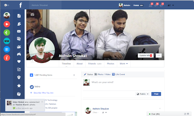 new facebook design