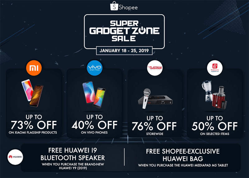 Shopee Super Gadget Zone Sale is back with up to 99 percent off!