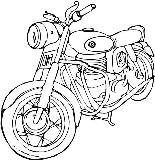 imagenes de moto para colorear para niños